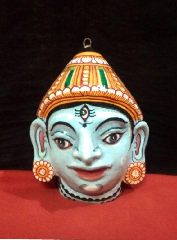 A beautiful pattachitra papier mache mask of God by PattachitraNet