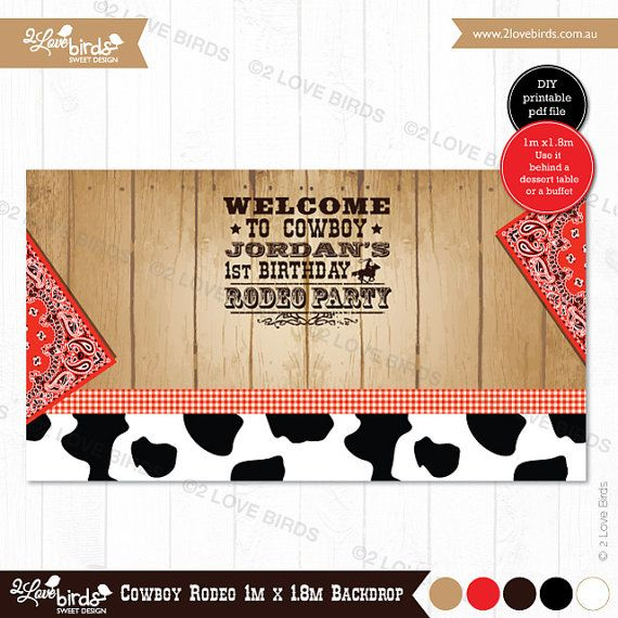 Cowboy Rodeo Printable Backdrop by 2LoveBirdsDesign on Etsy