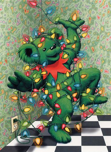 Grateful Dead Dancing Bear -- Merry Christmas!