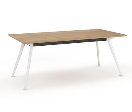 OLG Team Table Beech in Polished Alloy, White or Black – Dunn Furniture