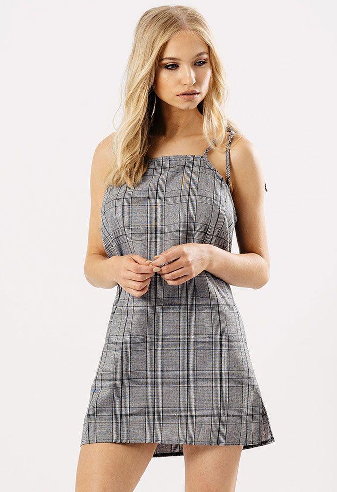 Gingham Check Print Mini Dress | Miss Rebel