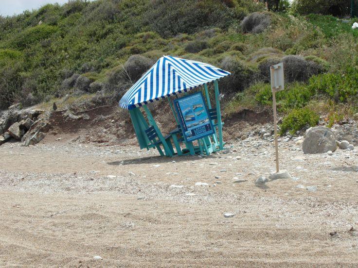 Ons strandje zonder bereik, soms wel handig als je telefoon het opeens niet meer doet