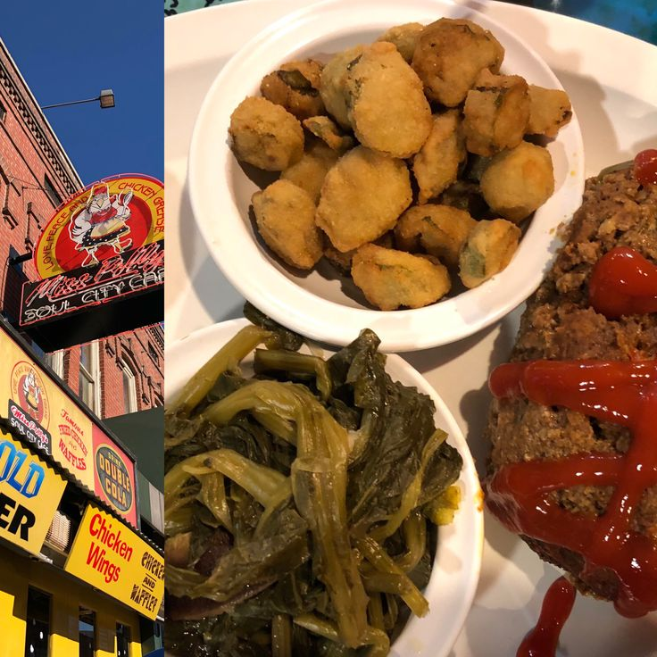Miss Polly's Soul City Cafe. Memphis TN... some good soul food😊