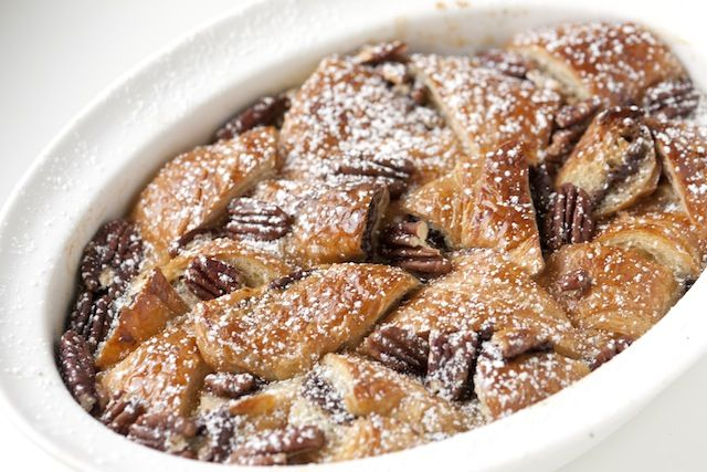 nutella bread pudding... with croissants.. oh my oh my