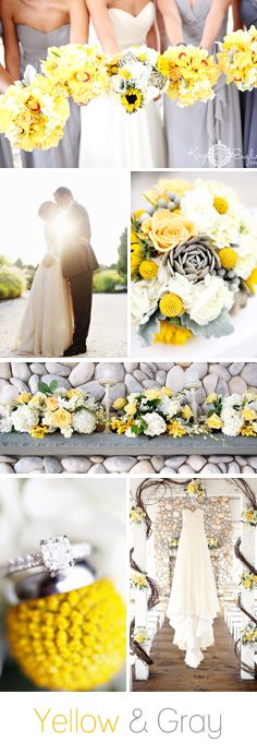 Yellow and Gray Wedding See the full wedding here