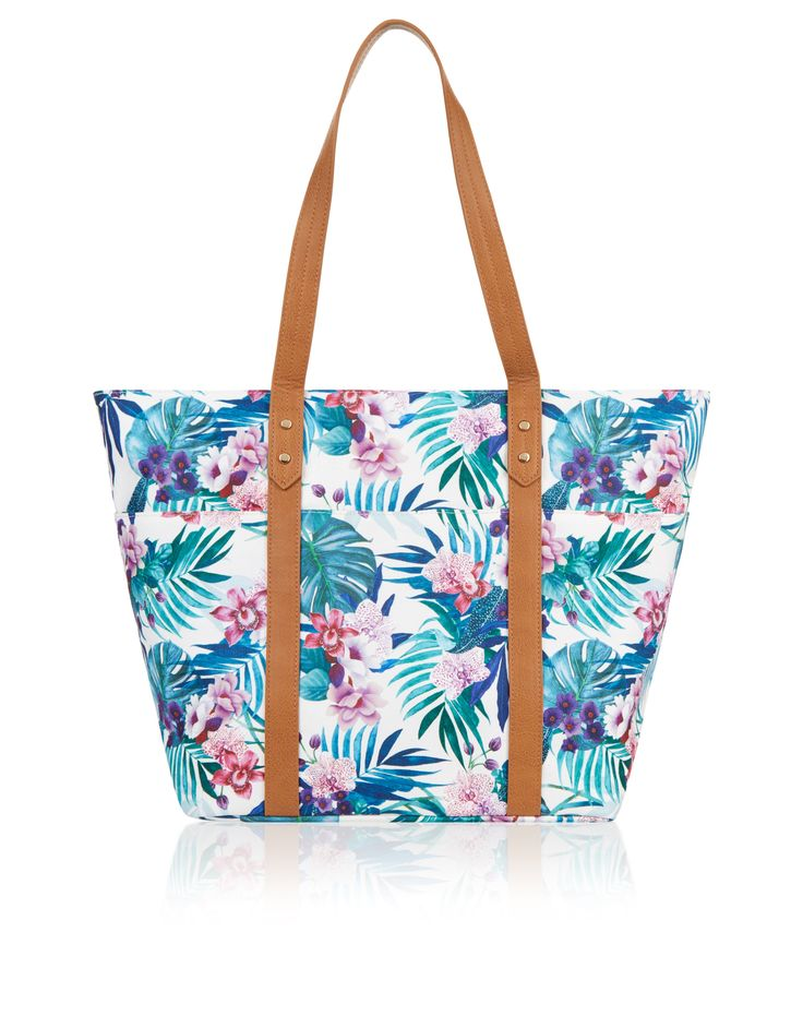 Accessorize | Tropical Orchid Beach Tote Bag | Multi | One Size