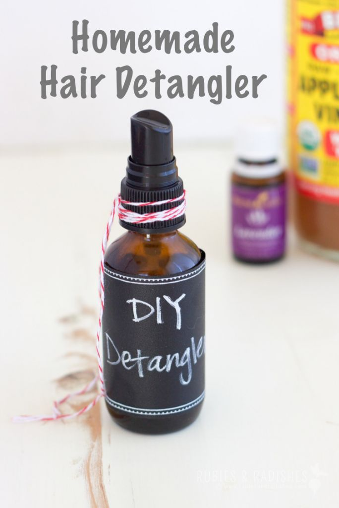 Natural Homemade Detangler (3 ingredients!) - Rubies & Radishes