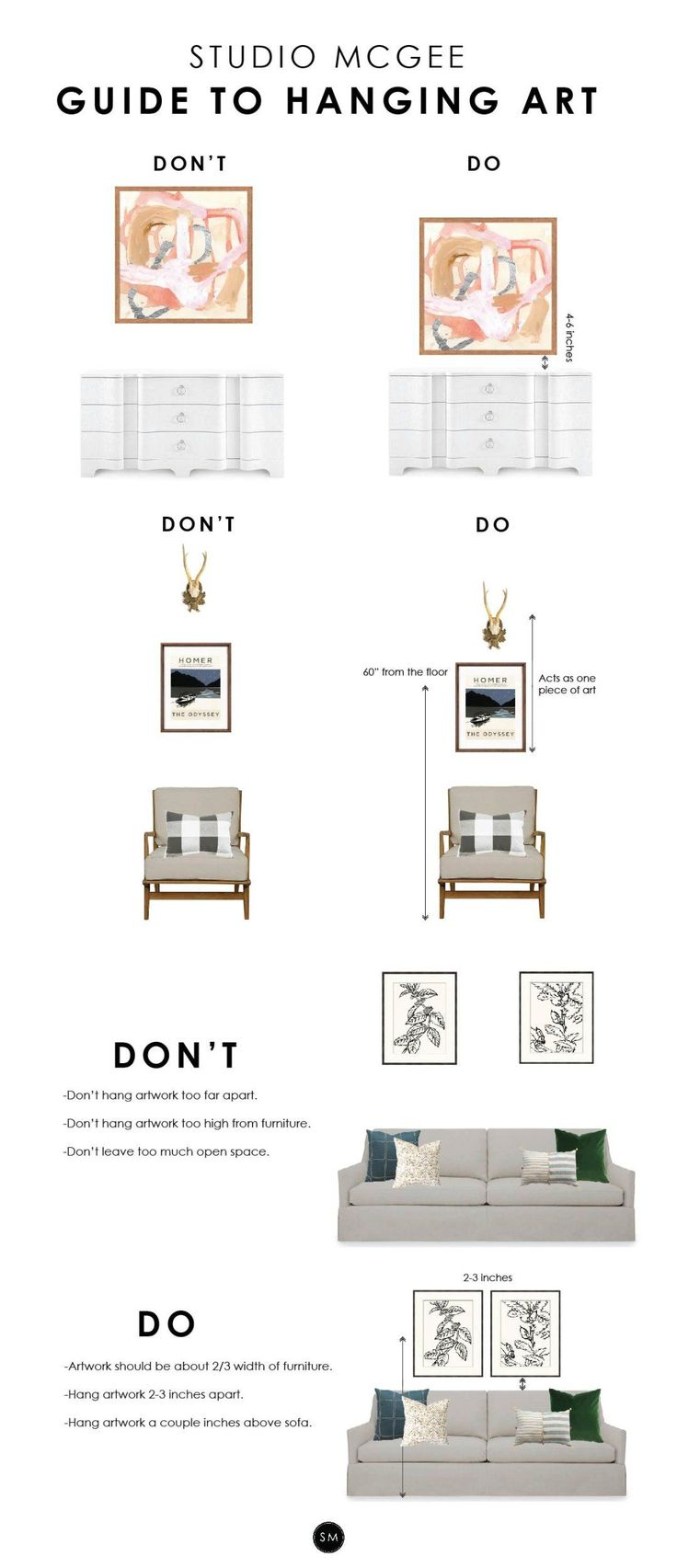 Artwork hanging tips
