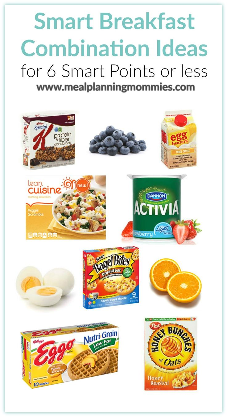 Use this list of smart breakfast foods that are low in smart points to help you stay on track with WW. Each combination is 6 smart points or lower.