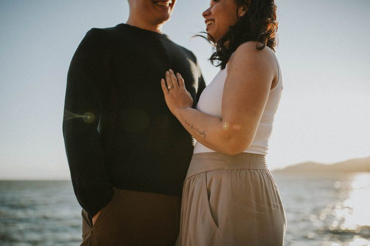 PNW engagement session on the rocks and cliffs of West Vancouver's Lighthouse Park - Photo by Jeff and Cat of the Apartment Photography - Vancouver and Destination Wedding and Elopement Photographers