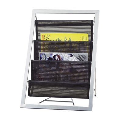 Adesso Lighting WK7802-01 Magazine Rack, Black