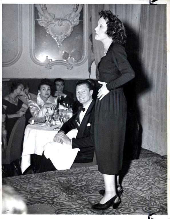 Edith Piaf Versailles New York 1949 Edith piaf