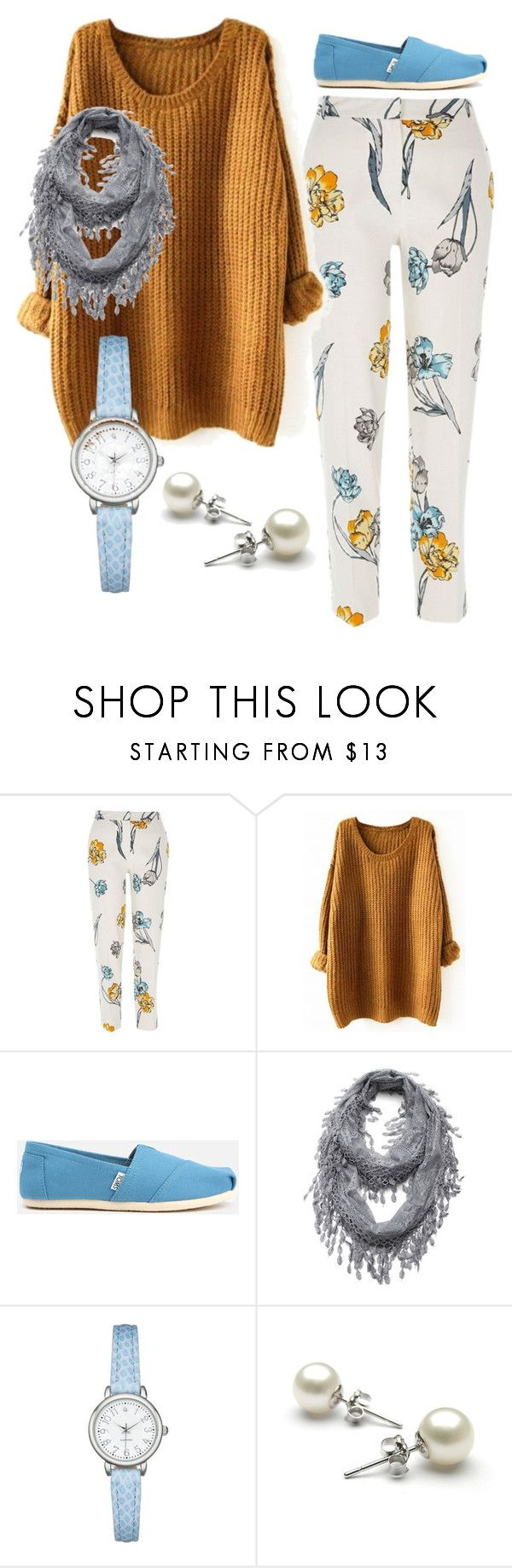 """""""Teacher Style 3"""" by mckaylie-ruhr on Polyvore featuring River Island and TOMS"""