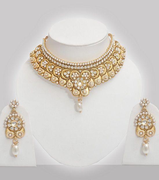 Wedding Polki Jewellery With Pearls