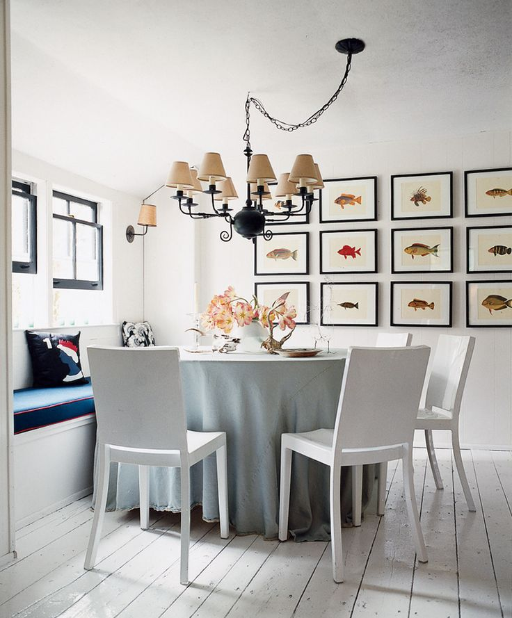 And Hereu0027s A Smart, Symmetrical Grouping... Each Work Of Art (book · Dining  Room ...