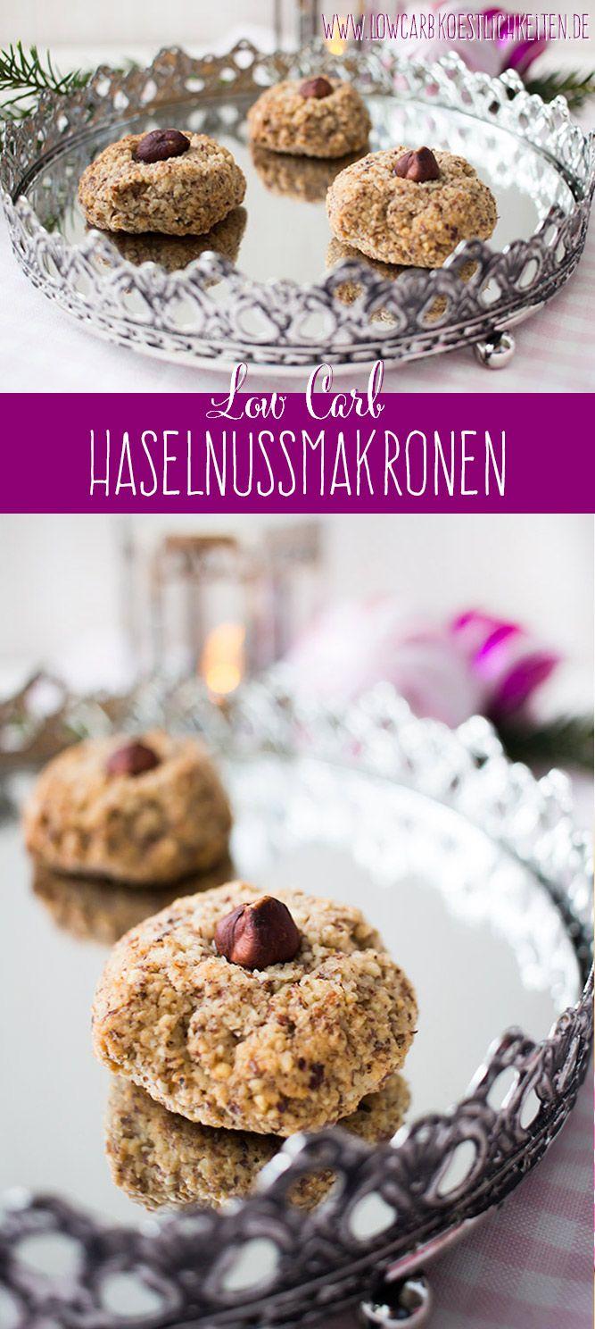 In der Weihnachtsbäckerei: Low Carb Haselnuss Makronen www.lowcarbkoestl …