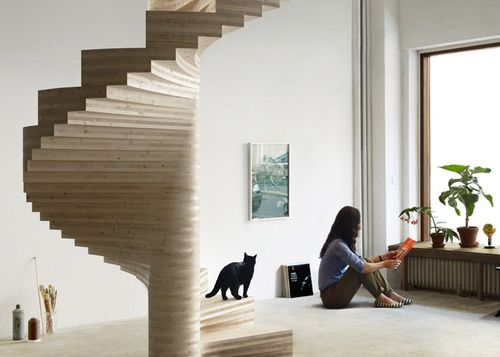 The Risa Is A Stunning Laminated Wooden Spiral Staircase By Norwegian  Architect Tron Meyer. The Question Is   How Would You Name Such A Stylish  Cat, ...