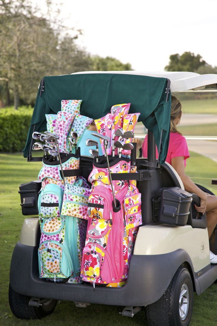 Hit the greens in style with our new Golf Club Covers. Set includes 4 head covers in assorted sizes perfect for protecting your golf clubs in your golf bag. Featuring numeric patches that will allow you to distinguish your clubs with ease. Store : The Preppy Pair