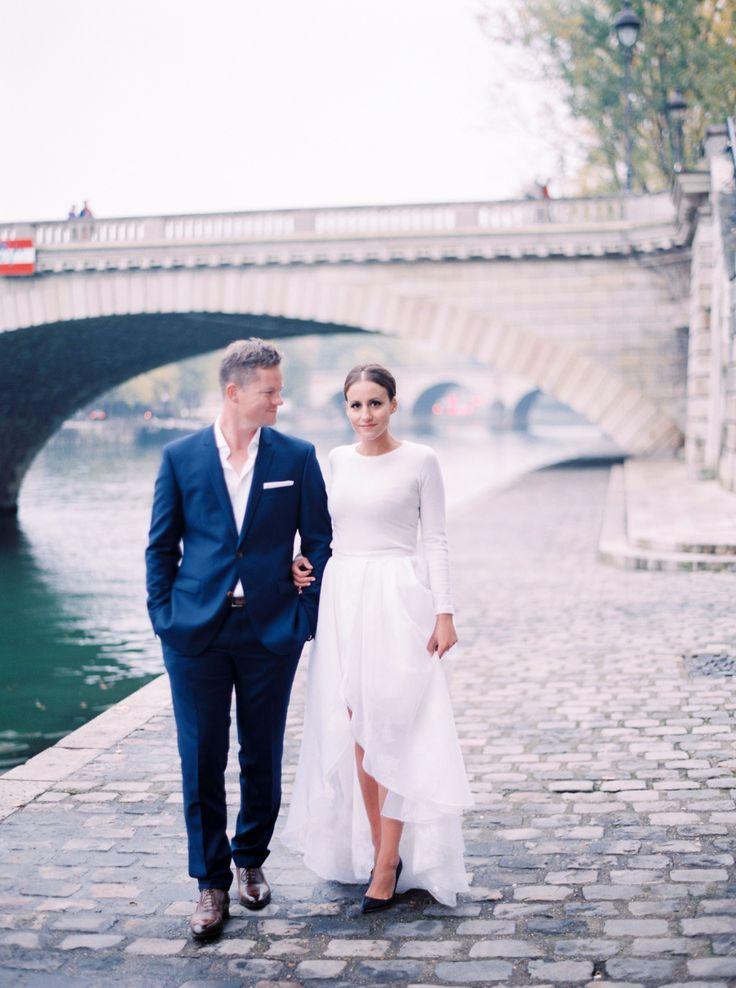 Photography: Le Secret D'Audrey - lesecretdaudrey.com Paris! Elopement!   Read More on SMP: http://www.stylemepretty.com/destination-weddings/2015/12/24/winter-elopement-in-paris/