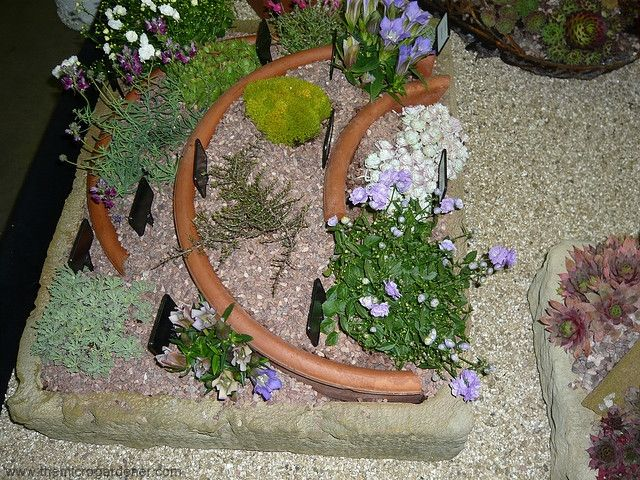 hypertufa and broken pots for a tiered effect.