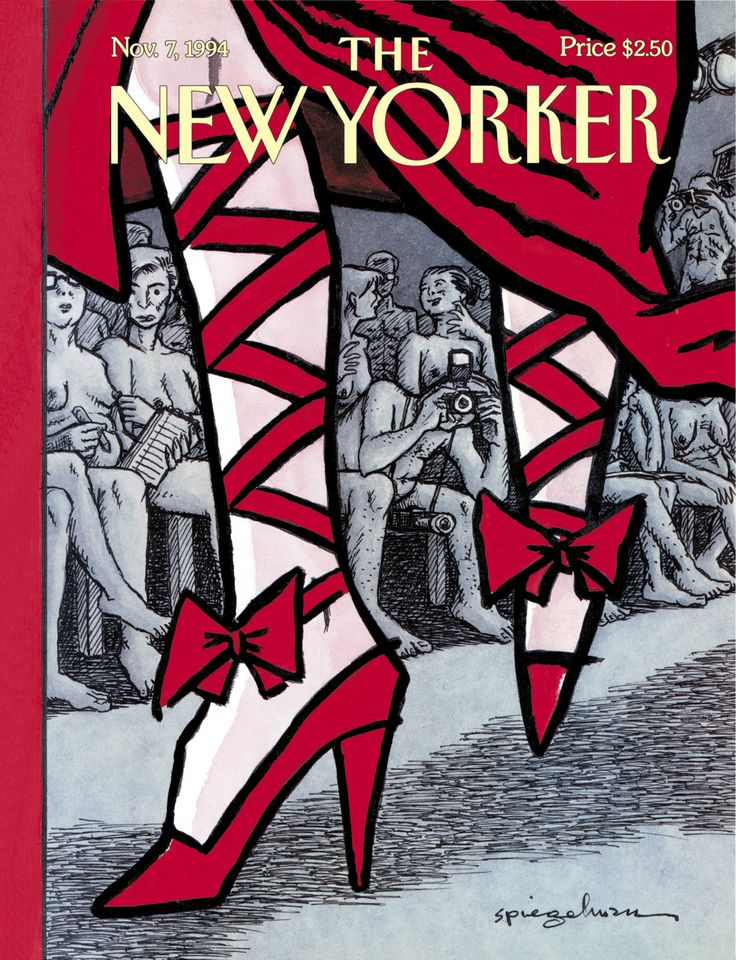 "The New Yorker - Monday, November 7, 1994 - Issue # 3633 - Vol. 70 - N° 35 - « The World of Fashion » - Cover ""Unveiled"" by Art Spiegelman"