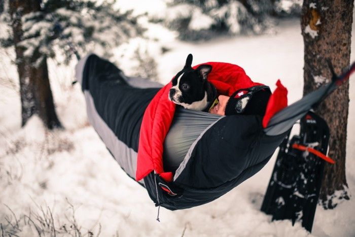 Can't wait to try some winter hammock camping