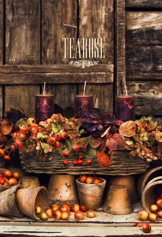 Őszi kompozíció gyertyával   autumn composition with candles