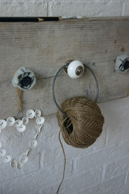 twine and button heart