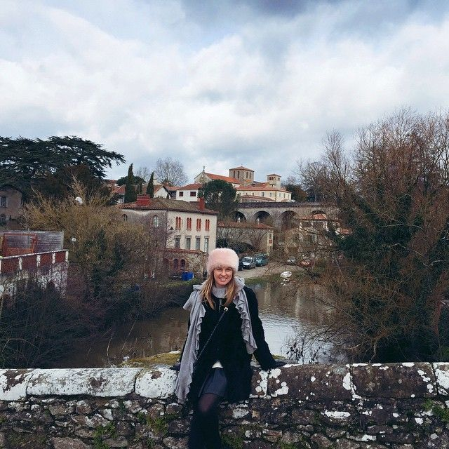 In #Clisson #France #me #style wearing Minnie Rose Cashmere and Ravn Coat
