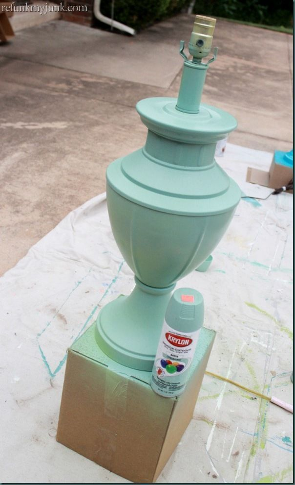 Krylon spray paint in Catalina Mist - the perfect mint green!