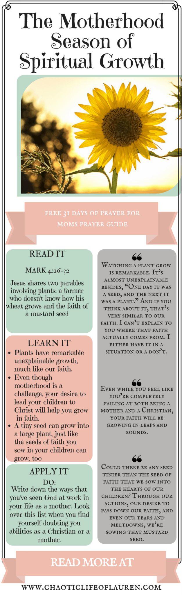 What does a season of Spiritual growth look like in a mother's life? | Christian Motherhood | Faith | Devotional | Inspirational | Biblical Womanhood | Christian Lifestyle | Raising Kids | Raising Children