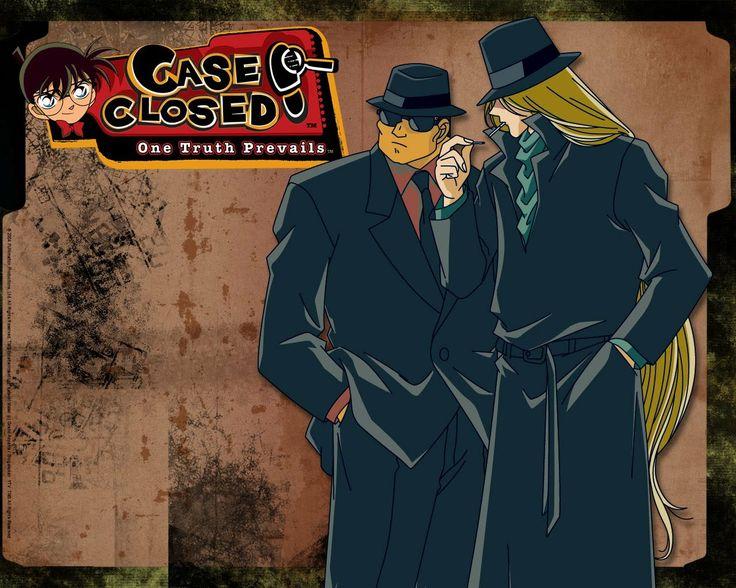 Detective Conan Gin and Vodka Black Organization Wallpaper