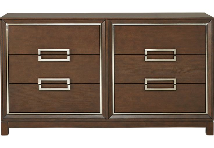 Cindy Crawford Home Newbury Park Merlot Dresser  - Dressers Dark Wood