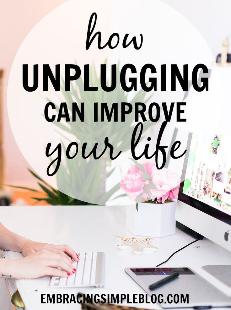 Do you have a tough time setting boundaries with how much you use technology? Then you need to read this to learn how unplugging can improve your life!