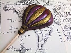 The '80 Days' Balloon - a lusciously large Fairtrade chocolate balloon, handpainted in edible lustre. Ideal for expeditions of an extended nature  #steampunk #chocolate #balloon