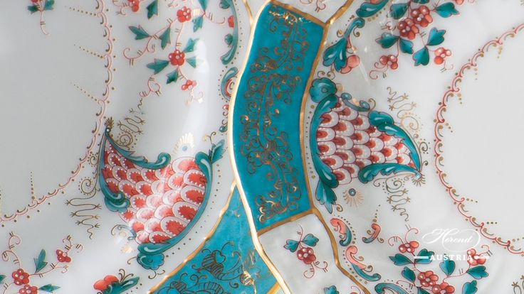 The birth of Tupini (TCA) Décor in 1870 was inspired by Arabian ceramics glittering in enamel colours. Borrowing just a handful of motifs from the mysterious Orient, the masters of Herend have conjured up the heated, spicy, intoxicating fairy world of the Arabian Nights. http://herend.at/portfolio/tupini-herend-sets-tca/