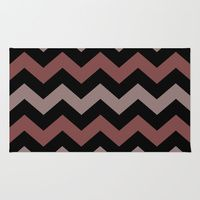 Area & Throw Rug featuring Multi Colored ZIG-ZAG by gypsykissphotography