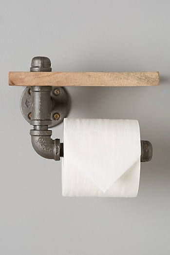 Support à papier de toilette en sycomore récupéré