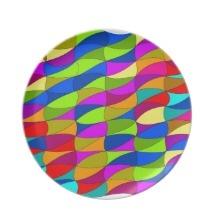 Unsere ungiftigen und spülmaschinenfesten Teller zeigen Designs im lebendigen Vollfarbdruck und sind perfekt um ein einzigartiges Geschirrset zu gestalten.       - Größe: 25,4cm     - Lebendiger Vollfarbdruck     - Fall- und bruchsicher     - spülmaschinengeeignet     - Nicht für Mikrowelle geeignet    #teller #designs #flowerpower #wirres #muster #grün #vollfarbdruck #einzigartiges #gestalten. #individuell #lebendiger #siebzigerjahre #sechzigerjahre #abstrakt #blau