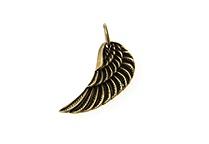Brass angel wing pendant