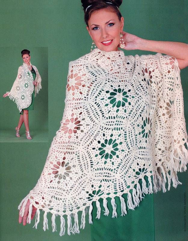 26 best xale e lenço images on Pinterest | Shawl, Knit crochet and ...