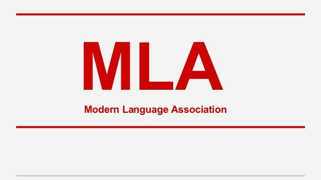 Citation Style Mla The Acronym Stands For Modern Language