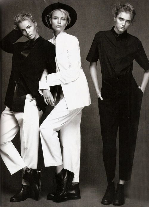 black and white. fashion editorial