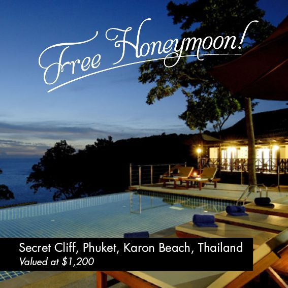 Perfect location in Phuket, Free when you purchase you wedding or engagement ring from Xennox, for July/August 2013. #Honeymoon #wedding #Diamondring