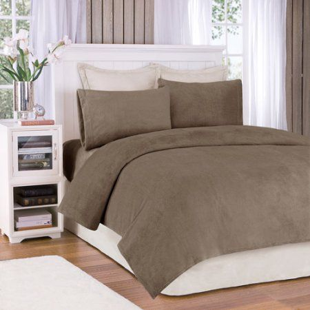 Comfort Classics Soloft Plush Solid Micro Raschel Bedding Sheet Set, Brown