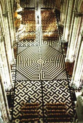labyrinth of amiens cathedral : Medieval , Loyola University Chicago