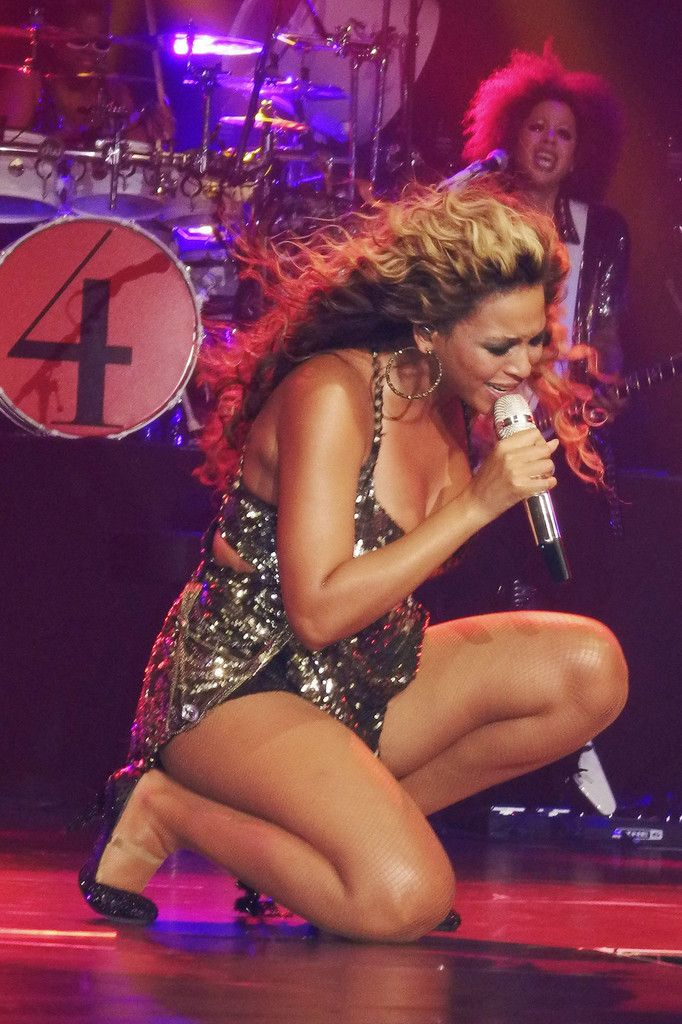 Beyoncé performing at the Roseland Ballroom in New York City New York 2011
