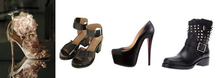 """Unikać: proste buty, buty zbyt łagodne z dużą ilością szczegółów i kobiecymi paskami. Zbyt """"szorstkie"""" duże buty, o o strych krawędziach w stylu dramatic."""