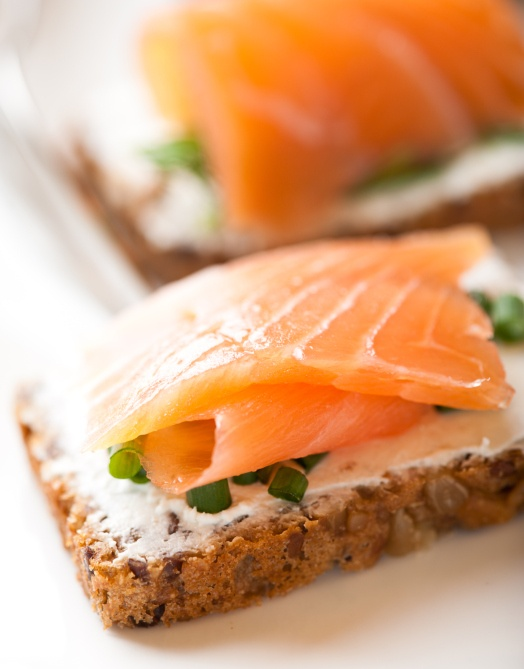 62 best baby shower ideas images on pinterest woodland for Salmon canape ideas