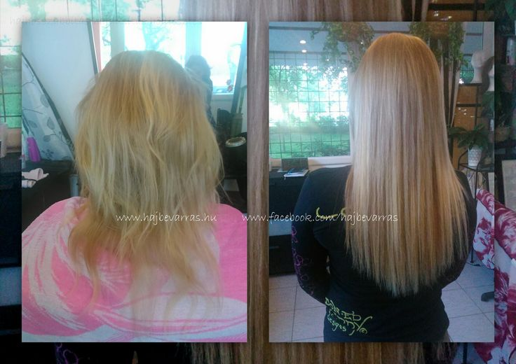 Hajhosszabbítás hőillesztéssel, 55 cm-es európai hajból, festéssel. www.hajbevarras.hu www.fb.com/hajbevarras #hajhosszabbitas #hajdusitas #hoillesztes